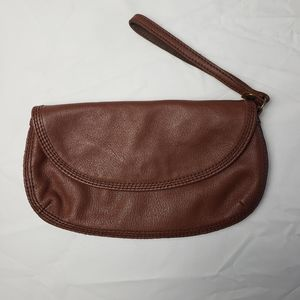 Lucky Brand Cowhide Leather Wristlet Wallet